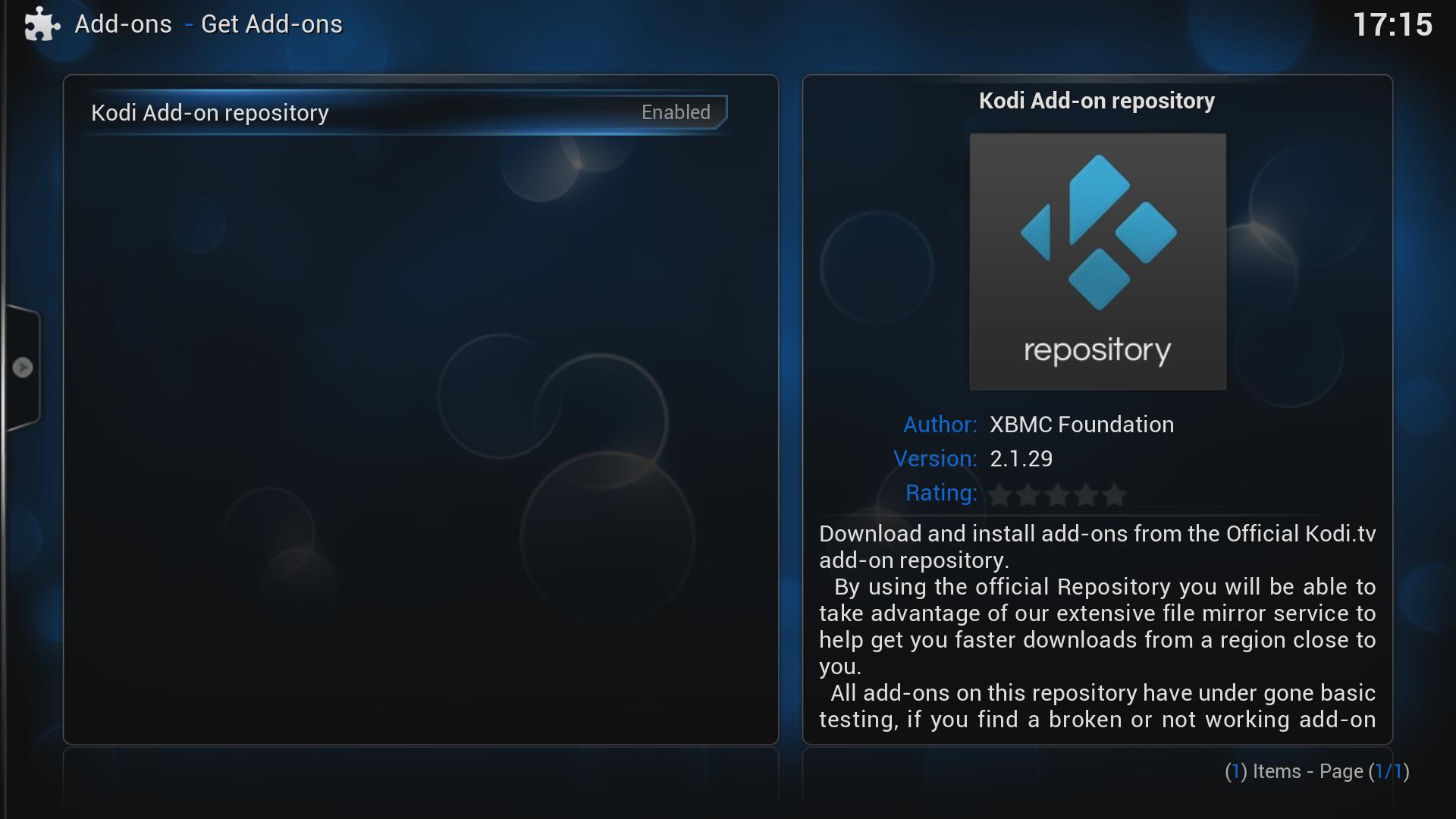 Kodi/XBMC skin: Confluence by uNiversal