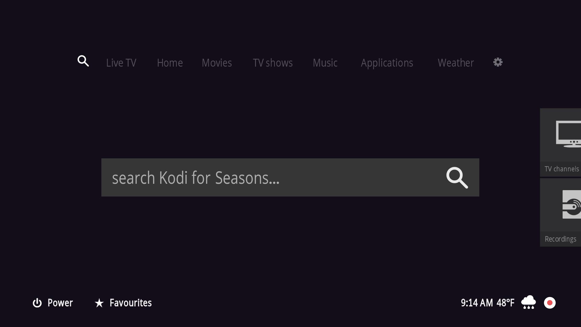 Kodi/XBMC skin: 1080XF by Piers