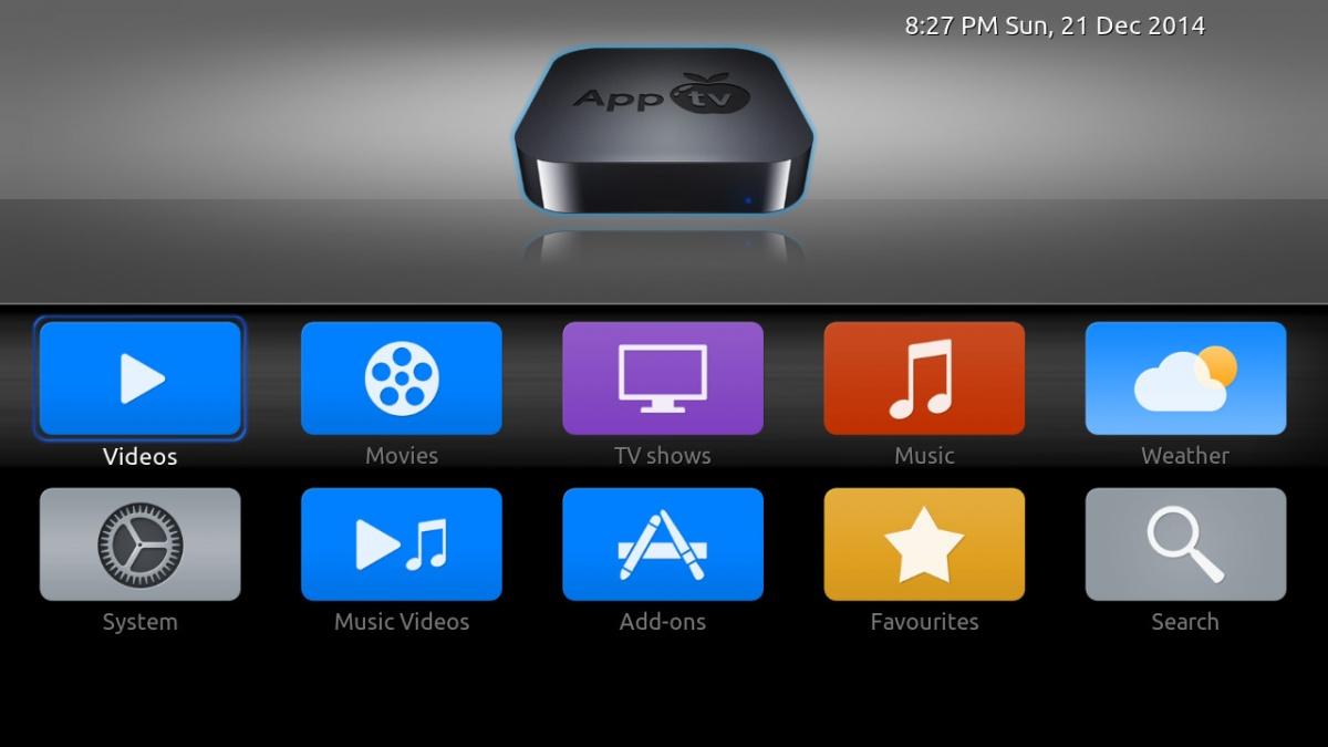 Kodi/XBMC skin: AppTV by wyrm