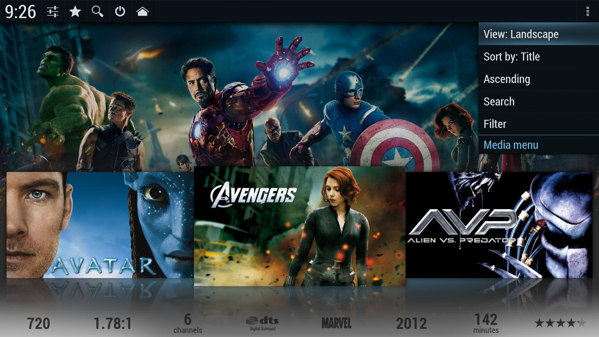 Kodi/XBMC skin: Droid by BigNoid