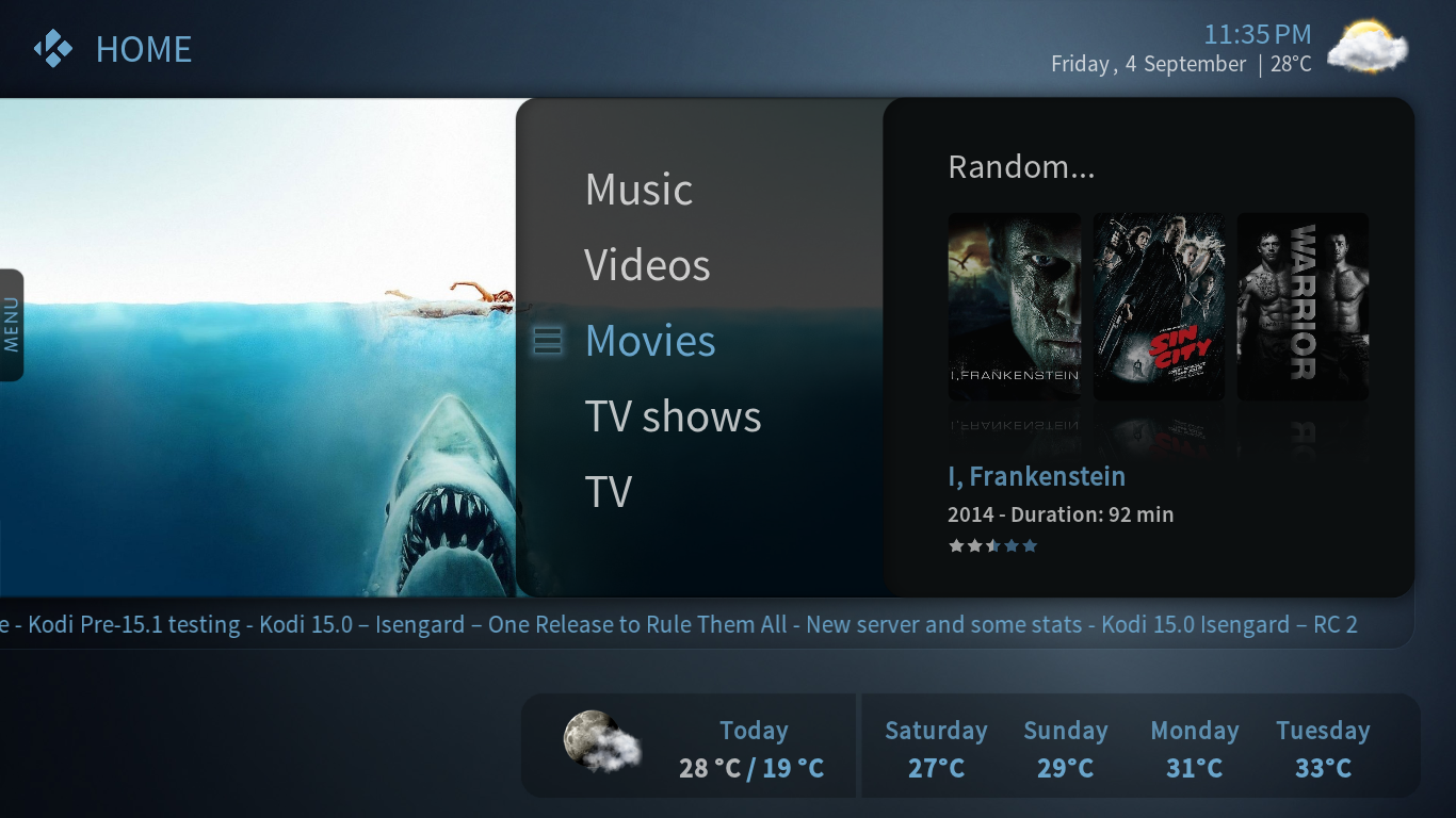 Kodi/XBMC skin: Avalon by reazorFX