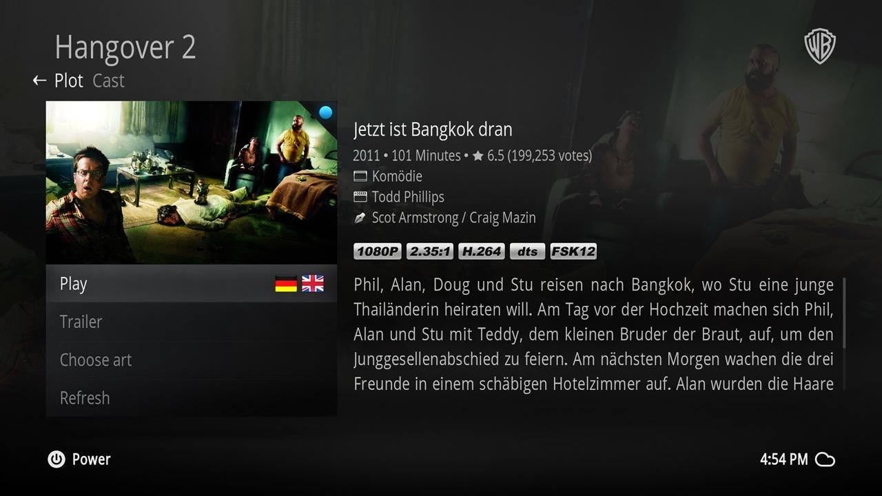 Movie information dialog