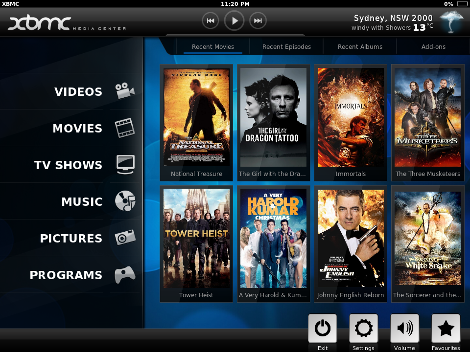 Kodi/XBMC skin: Re-Touched by Jezz_X